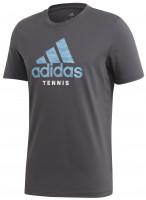 Teniso marškinėliai vyrams Adidas Category Logo Tee M - grey six