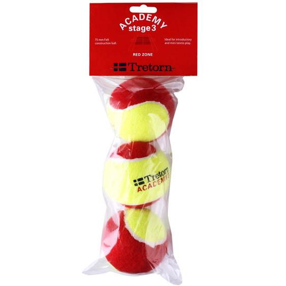 Juunioride tennisepallid Tretorn Red Felt Academy 3 3B
