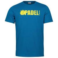 Muška majica Head Padel Font T-Shirt M - blue