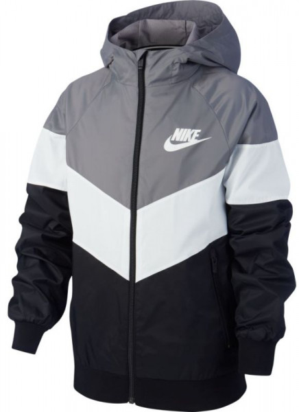 Bluza chłopięca Nike NSW Windrunner Jacket HD GX QS B - gunsmoke/summit white/black/summit white