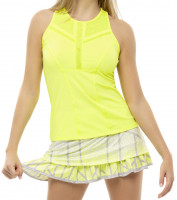 Damski top tenisowy Lucky in Love Nice To Pleat You Del 1 Center Line Tank W - neon yellow