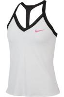 Damski top tenisowy Nike Court Tank Maria W - white/black/china rose