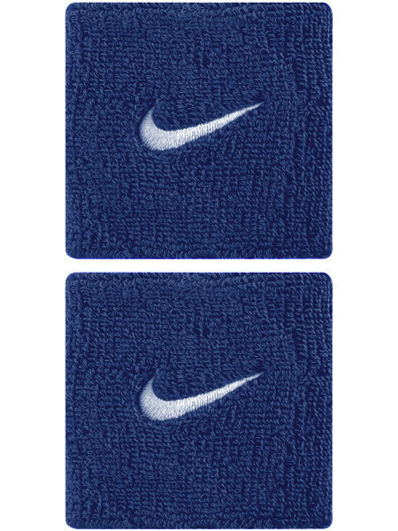 Aproces Nike Swoosh Wristbands - royal blue/white