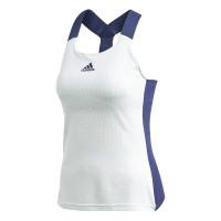 Marškinėliai moterims Adidas Women Y-Tank Heat Ready - dash green/tech indigo