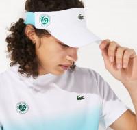 Daszek tenisowy Lacoste Men's Roland-Garros Color Block Tennis Visor - white/turquoise