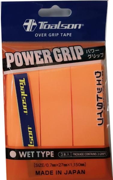Owijki tenisowe Toalson Power Grip 3P - orange