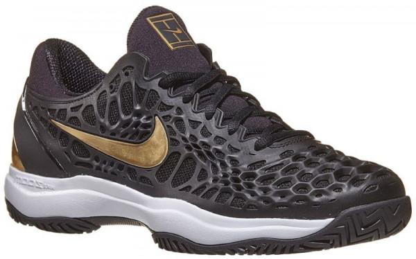 Męskie buty tenisowe Nike Air Zoom Cage 3 - black/metallic gold/white