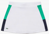 Lacoste Women's SPORT Breathable Stretch Tennis Skirt - white/green/blue