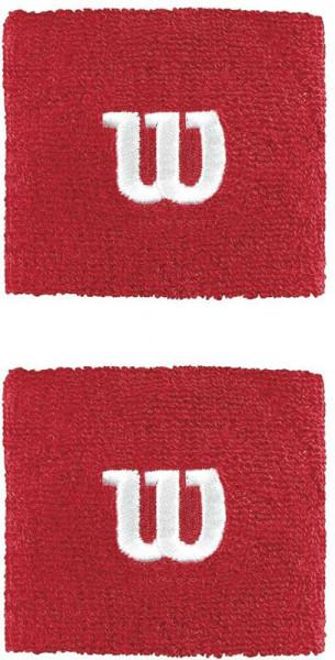 Znojnik za ruku Wilson Wristbands Poignets - red
