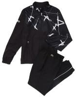 Męski dres tenisowy Lacoste Men's SPORT Graphic Print Tennis Track Suit - black/white/white