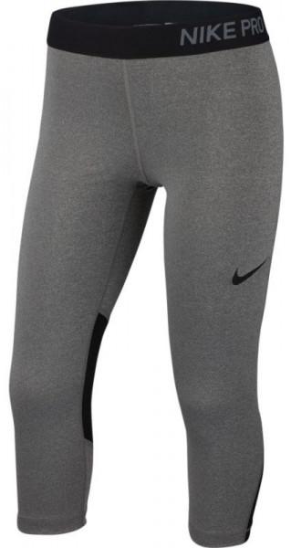 Nike Pro Capri Girls - carbon heather/black/black/black