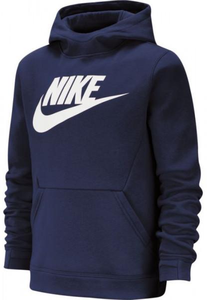 Bluza chłopięca Nike B NSW PO Hoodie Club Fleece - obsidian/white
