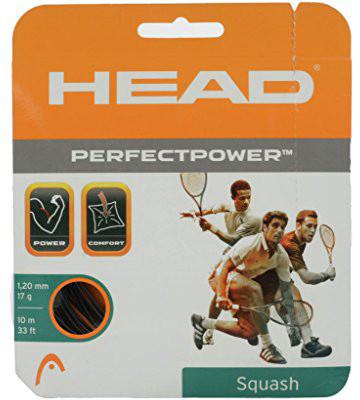 Naciąg do squasha Head Perfect Power (10 m) - black