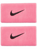 Frotka tenisowa Nike Swoosh Double-Wide Wristbands - pink gaze/oil grey