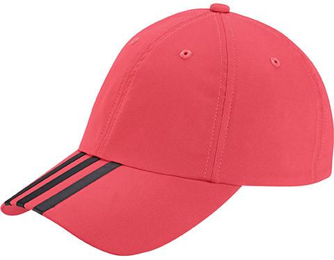 Adidas Climalite 3S Hat - shock red/black/black