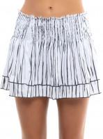 Damska spódniczka tenisowa Lucky in Love Going Wild Long Zebra Smocked Skirt Women - white