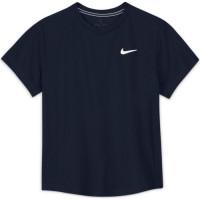 Nike Court Dri-Fit Victory SS Top B - obsidian/obsidian/white