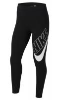 Spodnie dziewczęce Nike Swoosh Favorites GX Legging - black/white