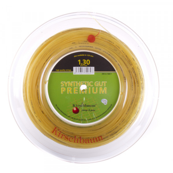 Tennisekeeled Kirschbaum Synthetic Gut Premium (200 m) - natural