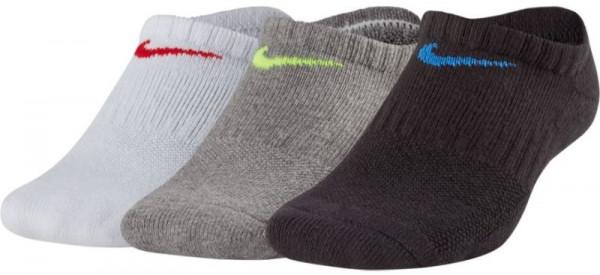 Kids' Nike Performance Cushioned No-Show Training Socks - 3 pary/multi-color
