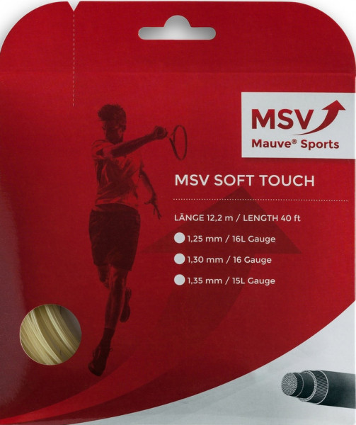 Tennisekeeled MSV Soft Touch (12 m) - natural