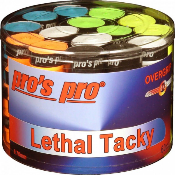 Owijki tenisowe Pro's Pro Lethal Tacky (60 szt.) - color