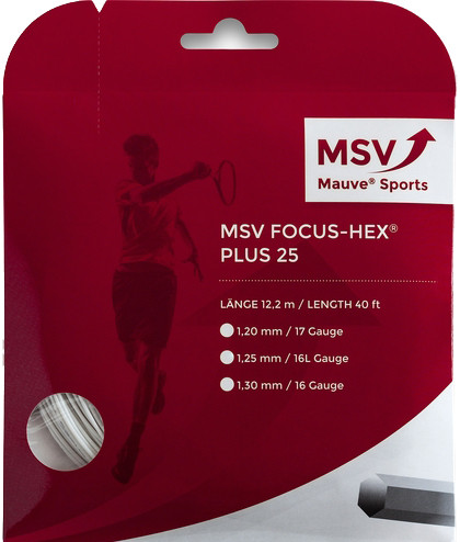 Tenisa stīgas MSV Focus Hex Plus 25 (12 m) - white