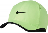 Czapka tenisowa Nike U Aerobill Feather Light Cap - ghost green/black