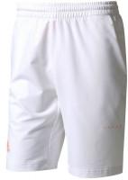 Męskie spodenki tenisowe Adidas Barricade Bermuda - white/glow orange