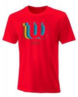Męski T-Shirt Wilson M Padel Blur Tech Tee - infrared