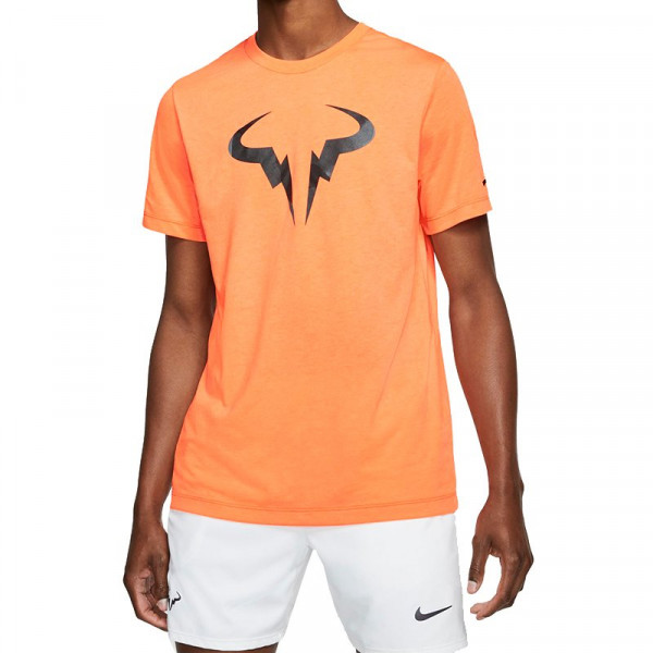 Męski T Shirt Nike Court Rafa Dry Tee SNSL orange pulse