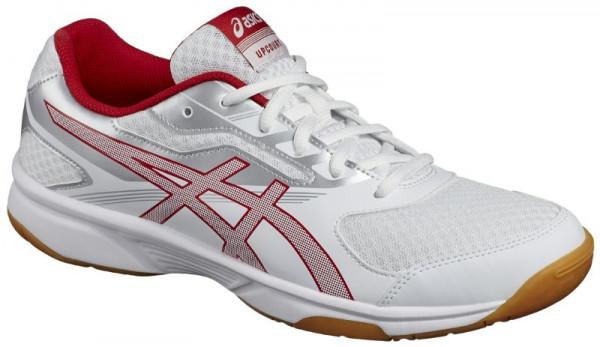 Buty do squasha Asics UpCourt 2 - white/prime red/silver
