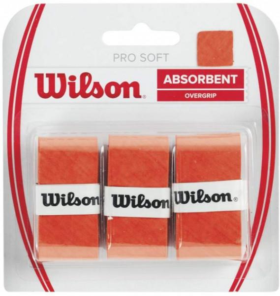 Owijki tenisowe Wilson Pro Soft (3 szt.) - orange