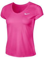 Damski T-shirt Nike Court Dry Top SS W - vivid pink/white