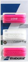 Babolat Custom Ring 3P - white/pink