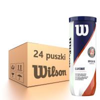 Karton piłek tenisowych Wilson Roland Garros Clay - 24 x 3 szt.