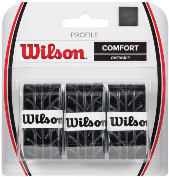 Owijki tenisowe Wilson Profile (3 szt.) - black