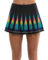 Tenisa svārki sievietēm Lucky in Love Square Are You? Long Squared Up Pleated Skirt Women - black