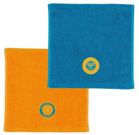 Ręcznik tenisowy Wimbledon Face Cloth Pack - turq/ochre