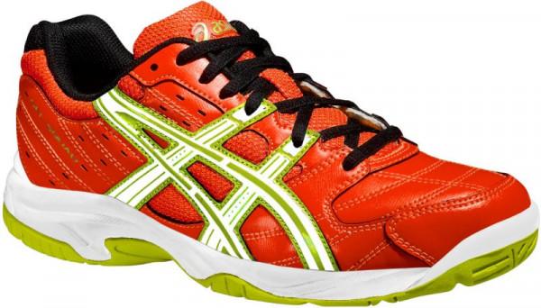 Junior squash shoes Asics Gel-Squad GS - cherry/tomato/white/black