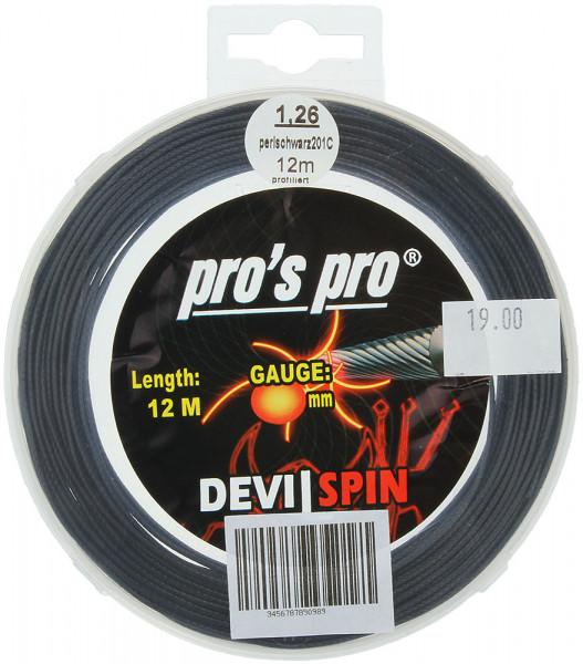 Tenisa stīgas Pro's Pro Devil Spin (12 m)