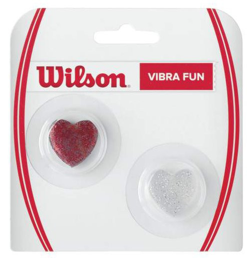 Vibration dampener Wilson Vibra Fun - Glitter Hearts (2 szt.) - red/white
