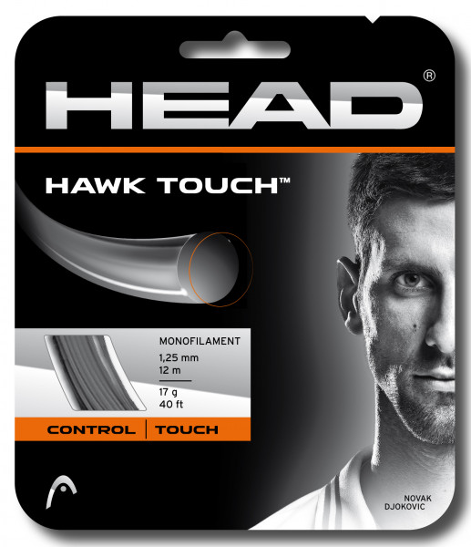 Tennisekeeled Head HAWK Touch 1.25 mm (12 m) - anthracite (Soovitame)