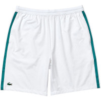 Muške kratke hlače Lacoste Men's Lacoste SPORT x Novak Djokovic Breathable Stretch Shorts - white/gre