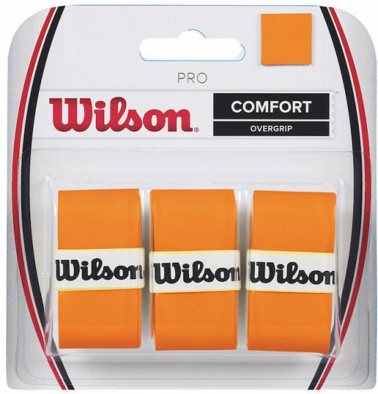 Owijki tenisowe Wilson Pro Overgrip Burn (3 szt.) - orange