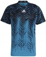 Muška majica Adidas Tennis Freelift Printed T-Shirt Primeblue M - sonic aqua