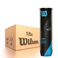 Karton piłek tenisowych Wilson Tour Premier All Court - 18 x 4B