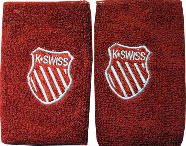 "Frotki Tenisowe na nadgarstki K-SwissBigshot Wristband 5"" - red/white"