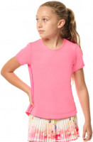 Koszulka dziewczęca Lucky in Love Core Dynamic High-Low S/S Girls - pink