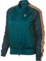 Nike Court Stadium Jacket W - rainforest/rainforest/orange peel